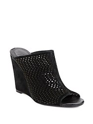 Joie Kellie Suede Wedge Mules Black