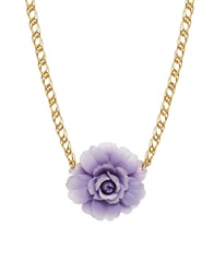 Gogo Philip Chunky Chain Purple Flower Necklace