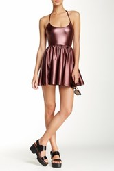 American Apparel Shiny Figure Skater Dress Blue