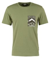 Jaded London Print Tshirt Khaki
