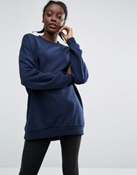 Monki Sweatshirt Jumper Blue