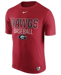 Nike Men's Georgia Bulldogs Baseball Legend Team Issue T Shirt Red