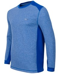 Greg Norman For Tasso Elba Men's Thermal Shirt Only At Macy's Hyper Blue Heather