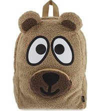 Mini Cream Fleece Bear Backpack Brown