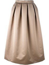 Rochas Full Long Skirt Brown