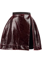 Vivienne Westwood Anthropology Faux Patent Leather Mini Skirt Red