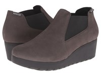 Mephisto Tosca Grey Bucksoft Women's Wedge Shoes Gray