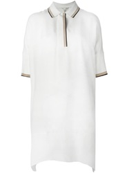 Rag And Bone Rag And Bone Loose Fit Polo Shirt Dress Nude And Neutrals