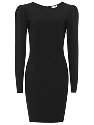 Reiss Nessa Puff Sleeve Jersey Dress Black