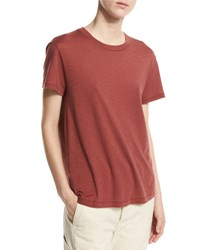 Vince Pima Cotton Swing Tee Brown