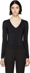 Maison Martin Margiela Black Technical Jersey Long Sleeve Bodysuit