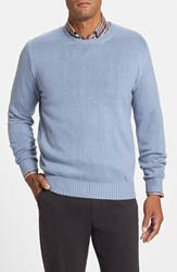 Men's Peter Millar Classic Fit Silk Crewneck Sweater Tarheel Blue