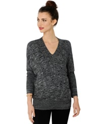 A Pea In The Pod Maternity V Neck Sweater Black White Marled