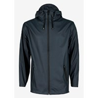 Rains Women's Navy Zip Hooded Mac