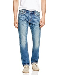 Jean Shop Selvedge Slim Fit Jeans In Mid Wash