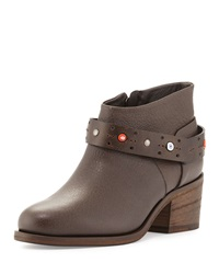 Beaded Ankle Strap Bootie Smog Henry Beguelin
