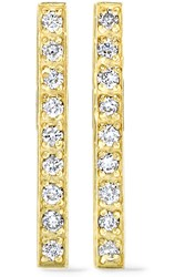 Jennifer Meyer 18 Karat Gold Diamond Earrings