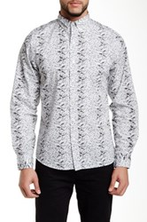 Kennington Flower Line Up Long Sleeve Slim Fit Shirt Gray
