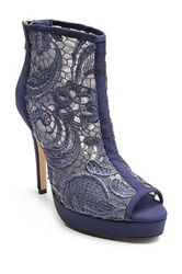 Two Lips Sensual Lace Bootie Blue