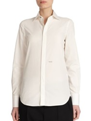Dsquared Button Front Shirt White