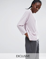 Monki Pocket Jumper With Split Back Purple