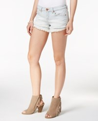 Dittos Frayed Cutoff Denim Shorts Blue