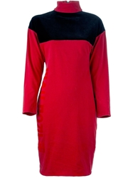 Jean Paul Gaultier Vintage Fitted Dress Red