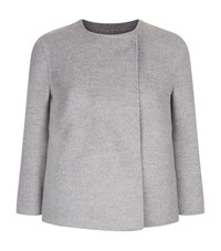 Les Copains Double Faced Jacket Female Light Grey