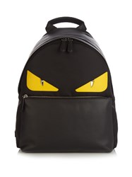 Fendi Bag Bugs Nylon And Leather Backpack Black Multi