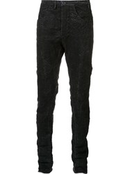 Label Under Construction Stone Wash Trousers Black