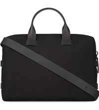 Troubadour Fabric And Leather Briefcase Black