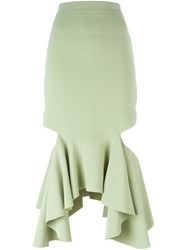 Givenchy Fitted Peplum Skirt Green