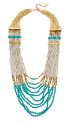Nakamol Mackenzie Necklace Turquoise Silver Gold