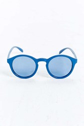 Urban Outfitters Plastic Round Sunglasses Blue