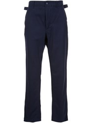 Engineered Garments Straight Trousers Blue