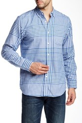 Obey Waverly Woven Trim Fit Shirt Blue