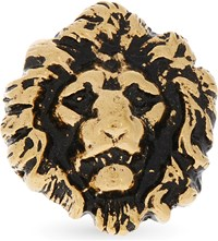 Saint Laurent Lion Head Ring Gold