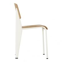 Standard Chair With Cream Frame And Natural Oak Seat The Conran Shop