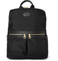 Mulberry Henry Leather Trimmed Nylon Backpack Black