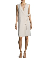Theory Livwilth Admiral Surplice Neck Crepe Dress Women's Classic Khaki