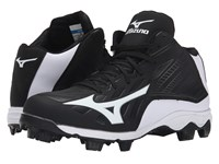 Mizuno 9 Spike Advanced Franchise 8 Mid Black White Men's Cleated Shoes