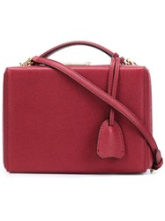 Mark Cross Small 'Grace' Box Bag Red