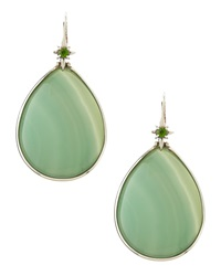 Stephen Dweck Green Agate Teardrop Earrings
