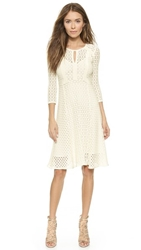 Nanette Lepore Drumbeat Knit Dress Ivory