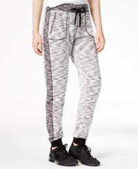 Material Girl Active Marled Contrast Jogger Pants Only At Macy's Black
