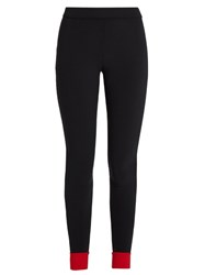 No Ka' Oi Contrast Trim Performance Leggings Red Multi
