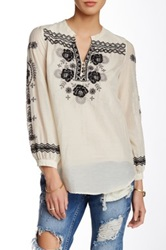 3J Workshop Embroidered Blouse White