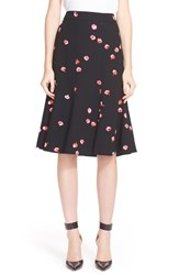 Women's Kate Spade New York 'Falling Florals' Print A Line Midi Skirt