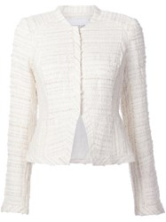 Derek Lam 10 Crosby Cropped Tweed Jacket White
