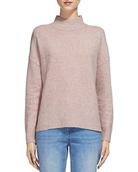 Whistles Donegal Funnel Neck Sweater Pale Pink